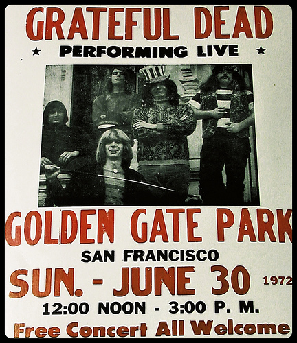 Grateful Dead Free Concert Golden Gate Park