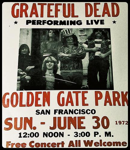 Grateful Dead Free Concert Golden Gate Park